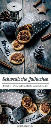 Julkuchen – Rezept für schwedische Weihnachtsplätzchen