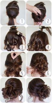 25 schnelle Frisuren für mittlere und lange Haare für jeden Tag. #frisuren #ha… – kurze frisuren
