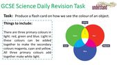 GCSE Science Daily Revision Task 104: Colour