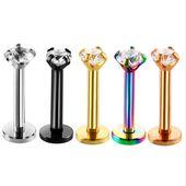 New Rose Gold Silber Farbe Edelstahl Nasenring Kristall für Frauen Männer …   – Fashion Jewelry