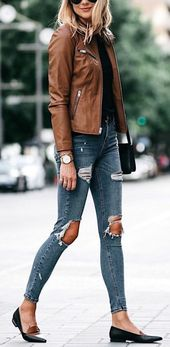 How to Wear Leather Jacket with Classic Style #fashionista #mystyle #outfitinspo