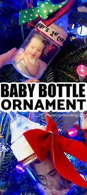 Baby Bottle Ornament – Baby's First Christmas Ornament – DIY and Homemade