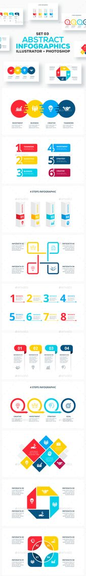 Abstract Infographics Set 03. Professional infographic template. #infographics #…