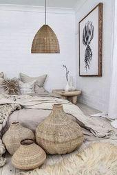 30 Boho Chic Schlafzimmer Dekor Ideen und Inspirat…