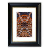 East Urban Home Gerahmtes Poster Aborigine-Muster 2 | Wayfair.de