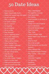 50 Date Night Ideas + Free Babysitter Checklist to Print – #Expression