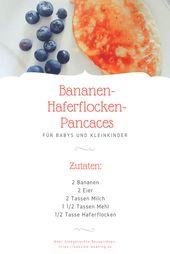 Bananen-Haferflocken-Pfannkuchen   – Süßes