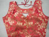 Pure heavy silk blouse, peach blouse, fancy blouse,designer blouse, indian blouse, readymade blouse, blouse for women, saree blouse, blouse 5