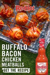 Hot Sauce, Bacon And Meatballs? Bring It. These Bite-Sized Bacon-Wrapped Chicken…