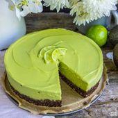Cheesecake à l'avocat vegan, sans gluten, sans sucre   – Kuchen / Kuchen vegan, glutenfrei
