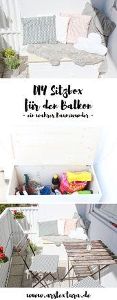 Ordnung für den Balkon… meine DIY Sitzbox   ars textura – DIY-Blog