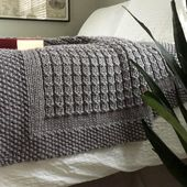 Baby Blanket The Over the Rooftops Blanket KNITTING PATTERN is easy to knit with super bulky ...