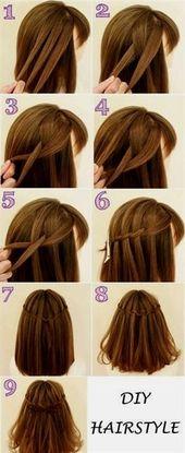 lange Haarmodelle DIY Haristyle. Sie können es versuchen. #capellicorticonfra... - Make Up Tipps