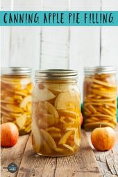Einmachen der Apfelkuchenfüllung – Einmachen – # Apfelkuchenfüllung #Einmachen #de … – Torten