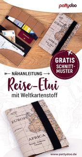Gratis Schnittmuster und DIY-Anleitung für ein Reise-Etui – praktische Fächer …