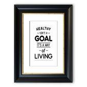 East Urban Home Framed Poster Healthy Isnt a Goal   Wayfair.de
