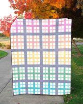 Zusatz Quilt in Rainbow Gingham