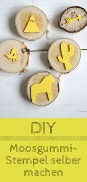 DIY: Moosgummi-Stempel selber machen und Shirts individuell bedrucken