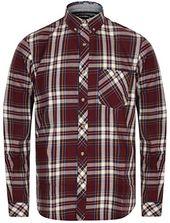 Tokyo Laundry Herren-Langarm-Karohemd - Milan - Wine Red S #herrenmodeshirts # Herrenbekleidung-T-Shirts