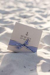 Invitations  maritime Einladung Hochzeit Nordsee DIY Hochzeitseinladungen, Hochzeitseinladung...