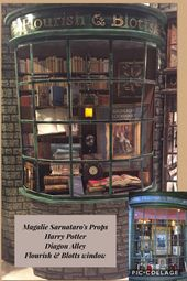 Magalie Sarnataro S Props Harry Potter Diagon Alley Flourish Blotts Window Halloween Harry Potter Props Harry Potter Diagon Alley Harry Potter Halloween