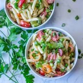 Salade de pâtes à l'italienne   – Végé et compagnie