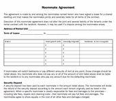 Renters Agreement Form Docbgf Roommate Agreement Regarding Free