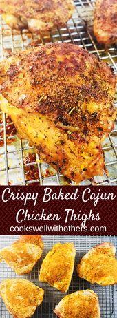 Crispy Baked Cajun Chicken Thighs