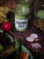 DIY – Make herbal salt yourself + Freebie to print: hand lettering labels