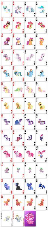 Mein kleines Pony Spielkarten von moonprincessluna auf deviantART