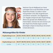 STERNTALER Baby Schirmmütze zum Binden mit UV-Schutz 50+ für Jungen Jungen, Blau / Weiß, Größe 47