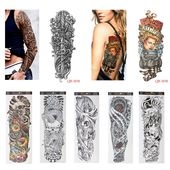 1 PC DIY Temporary Tattoo Stickers Waterproof Nun Girl Pray Design Full Flower A…