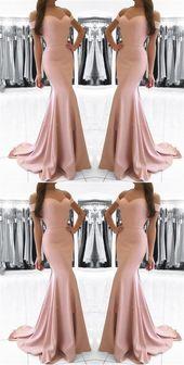 New Mermaid Off Shoulder Evening Dresses Sweetheart prom Dresses