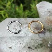 Septum Ring Clicker – Septum Hoop – Septum Piercing – Septum Schmuck -16 Gauge S …