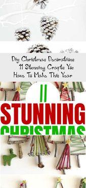 Photo of 11 atemberaubende DIY Weihnachtsdekorationen, die Sie über #christmasdecorations besessen sein werden …