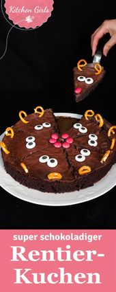 Reindeer Christmas cake – Kindergeburtstag Kuchen