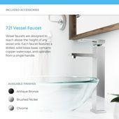 MR Direct Tempered Glass Circular Vessel Bathroom Sink
