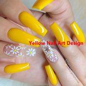 23 große gelbe Nail Art Designs 2019 1 #nailarts