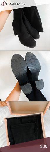 Schwarze Overknee-Stiefel, einige Male benutzt, sehr guter Zustand, Abnutzun … – My Posh Picks