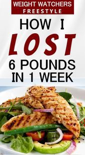 How I Lost 6 Pounds in 1 Week on Weight Watchers F…