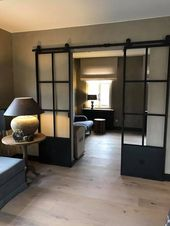 LOFT FRENCH double sliding door made of steel glass & lead …
