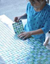 DIY Tile Outdoor Tisch