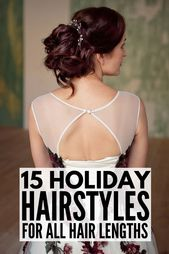 Looking for the perfect DIY holiday hairstyles to dress up your favorite LBD? We...,  #DIY #d...