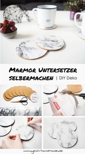 Make your own DIY marble coaster