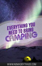 Ultimate Camping Packing List   – Kayak trip