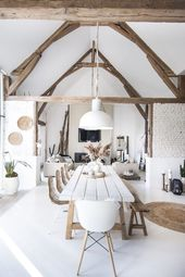 This neutral living room is asymmetrical because the pictures are so …