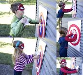 Pin the Star on Captain America's Shield Party Game {tutorial}