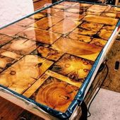 40 Amazing Resin Wood Table Ideas For Your Home Furnitures   – Einrichtung