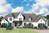 French Country House Plan with Private Study and Bonus Room   – House plans