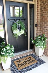 Black and white and green gathered porch – Th …